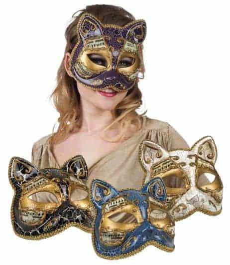 Masque loup venitien chat de luxe