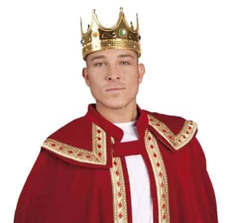 Couronne de roi pour adulte