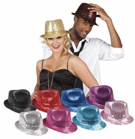 Chapeau disco sequin