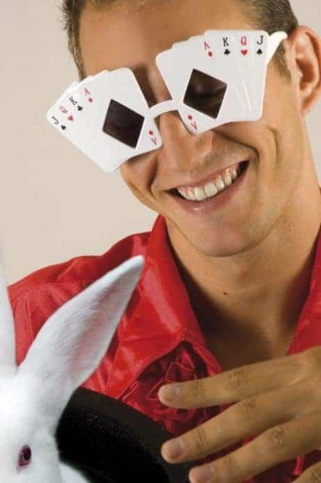 Lunettes humour cartes de poker