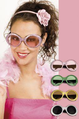Paire de lunettes disco a paillettes