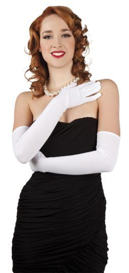 Paire de gants opéra blancs