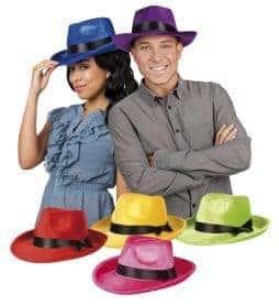 Chapeau gangster borsalino velours