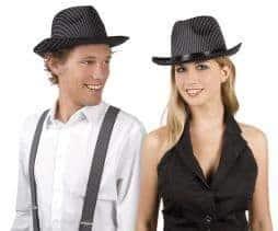 Chapeau borsalino rayé noir et blanc