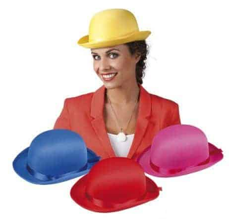 Chapeau melon fun en satin