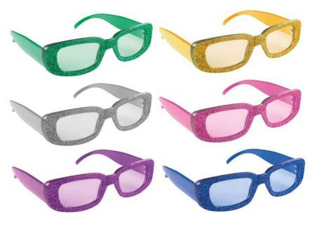 LUNETTES DISCO STRASS (Rectangulaires - 6 coloris)