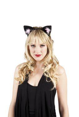 Serre tete oreilles de chat noir
