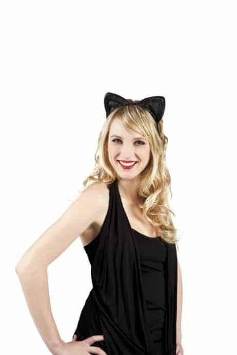 Oreilles de chat noir en serre tête