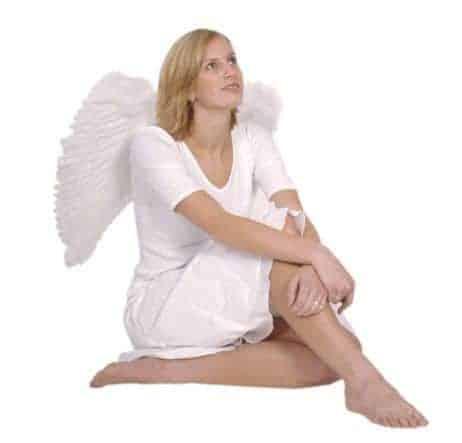 Ailes d'ange de couleur blanche 65/65 cm