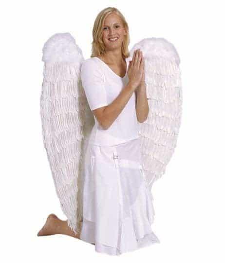 Grandes ailes blanches d'ange de 120/120 cm