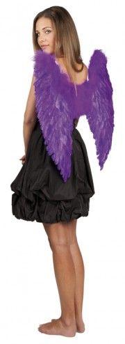Ailes d'ange plumes violet 65/65 cm