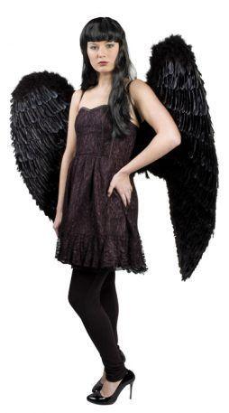 Grandes ailes d'anges noires 120/120 cm