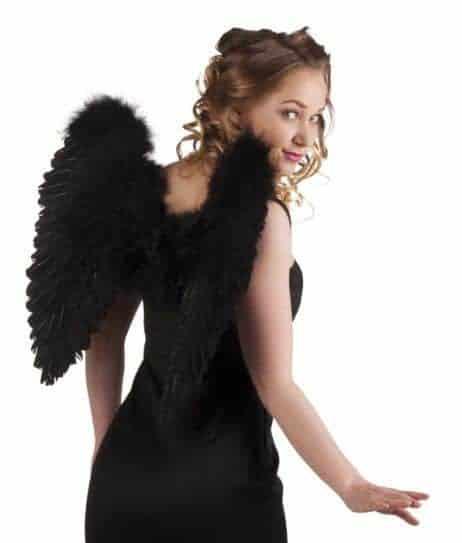 Ailes d'ange plumes noires 50/50 cm