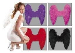 Lot de 12 ailes d'ange plume 4 coloris