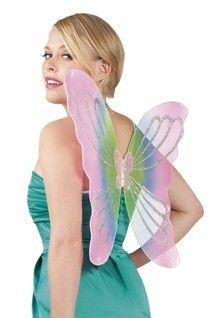 Ailes de papillons couleurs pastels 56/46 cm