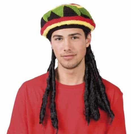 BONNET RASTA JAMAÏQUE (Dreadlocks incluses)