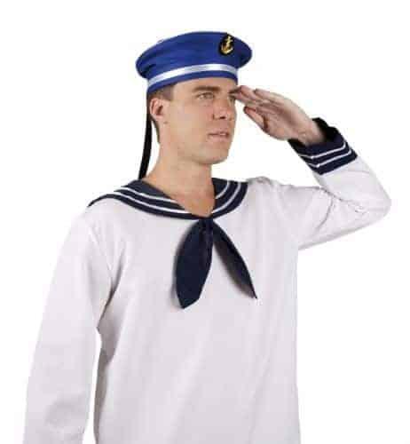 Béret de marin bleu avec ancre
