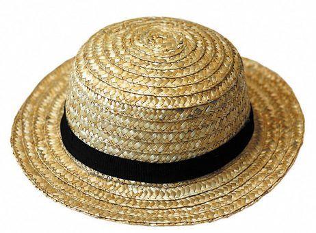 chapeau canotier en paille