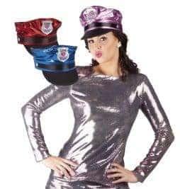 Casquette flashy de policiere sexy