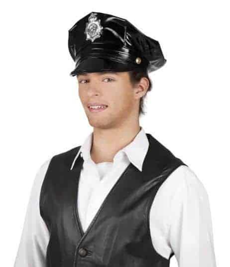 Casquette police americaine noire