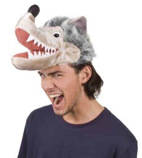 Tête de loup humoristique