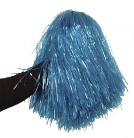 Pompon bleu de supporter pompom girl