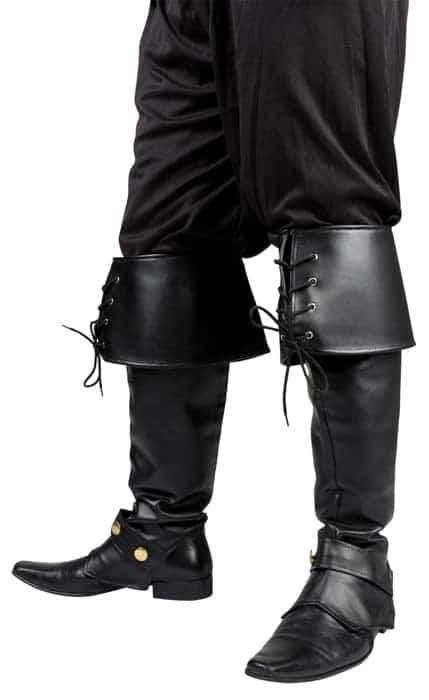 Couvre botte noir à lacets