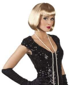 Perruque courte cabaret blonde