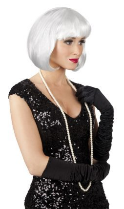 perruque blanche courte cabaret