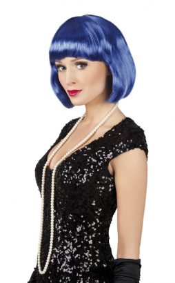 Perruque de cabaret Bleue