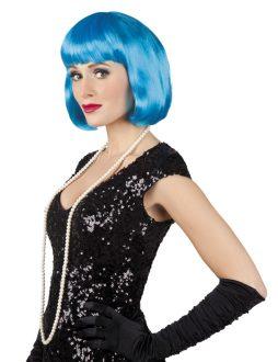 Perruque bleue turquoise cabaret