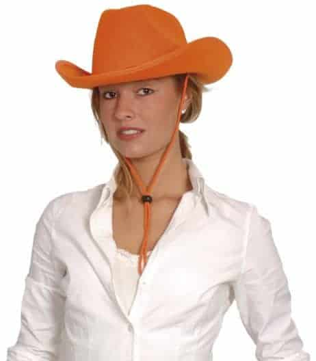 chapeau cow boy orange