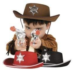 Chapeaux de sherif pour garcons