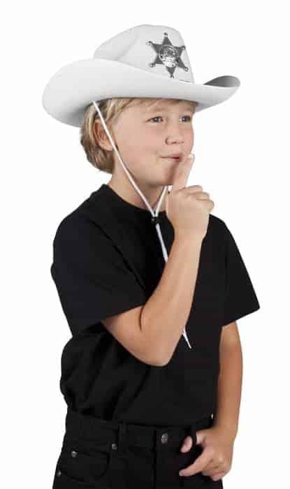Chapeau blanc de luxe sherif pour garcon