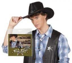 Etoile de cowboy et collier assorti
