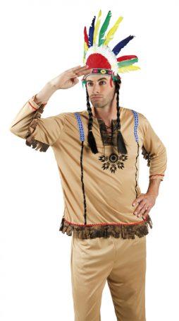 Coiffe d'Indien plumes multicolores