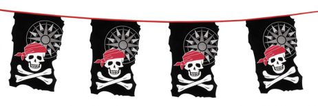 Guirlande pirates fanion 10 m