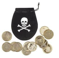 pochette pirate pieces d'or