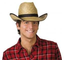 chapeau de paille pour cowboy
