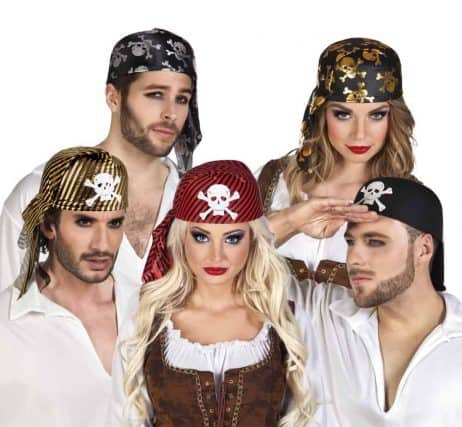 BANDANA PIRATE (Assortiment 5 coloris)