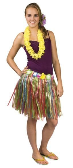 Jupe hawaienne multicolore