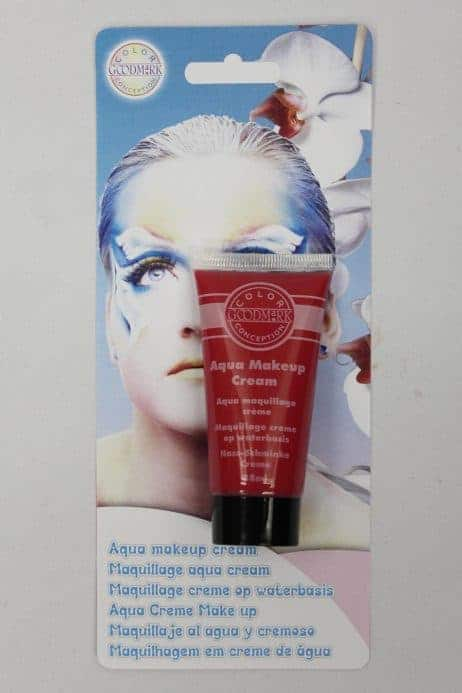 Tube de creme de grimage visage rouge 38 ml