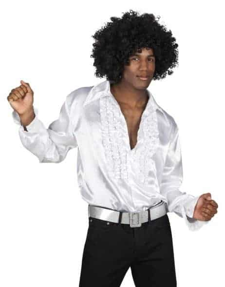 CHEMISE DISCO HOMME (Chemise blanche)