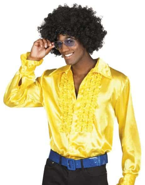 CHEMISE DISCO HOMME (Chemise jaune)