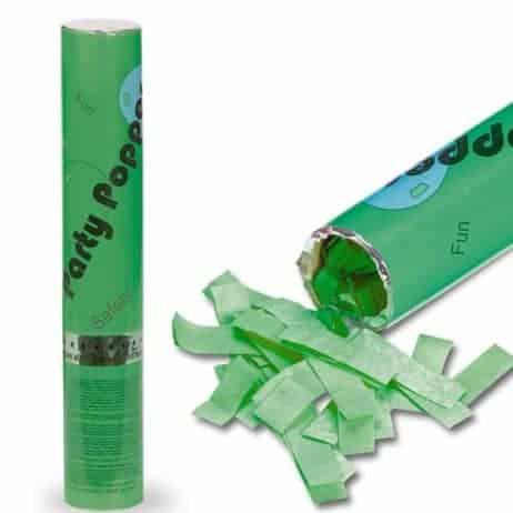 TUBE CANON A CONFETTIS (Papier Vert - Tube 30 cm)