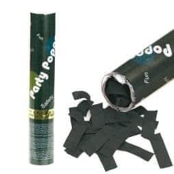 Canon a confettis noirs papier 30 cm