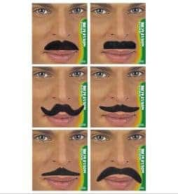 Kit de 24 moustaches noires assorties
