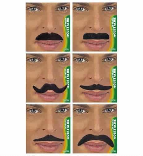 KIT MOUSTACHES NOIRES (Assortiment moustaches)