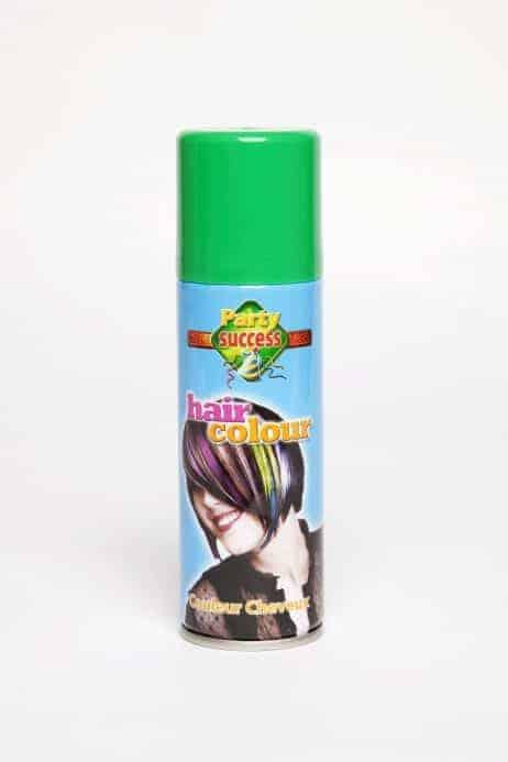 Laque cheveux verts