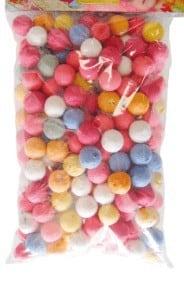 Sachets blister 200 boules sarbacane multicolore